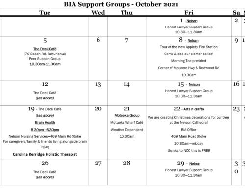BIA Newsletter – October 2021
